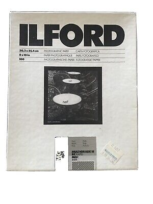 Ilford Multigrade III RC Rapid Photographic Paper Glossy 100 Sheets (8x10in) NOS