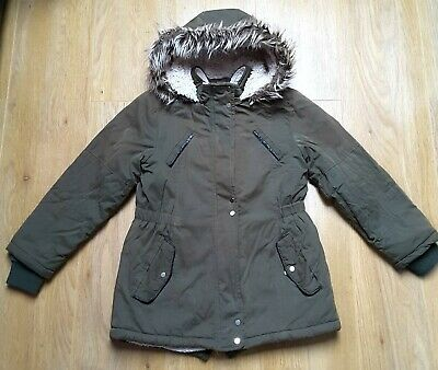 Khaki Girls Hooded Jacket Age 8-9 years Primark