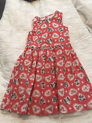 Cath Kidston Dress 5-6 Minny Mouse And Mickey Mouse .