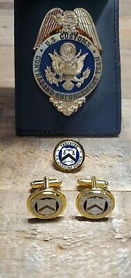 Obsolete Vintage U.S. Customs Service Contraband Enforcement Team Badge Set