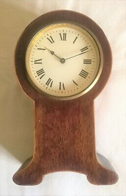 8-Day Balloon Cased Antique Mantel Clock - Working Order