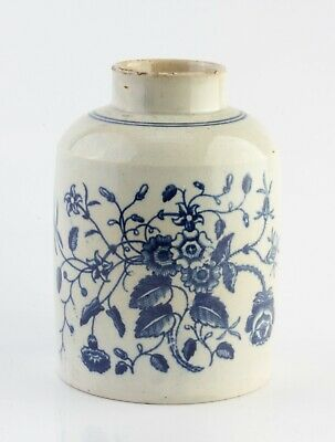 First Period 18c Worcester Porcelain Pottery Tea Caddy Canister c1780 No Reserve