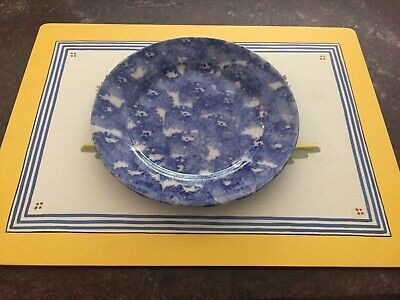Antique Old Early Spongeware Plate
