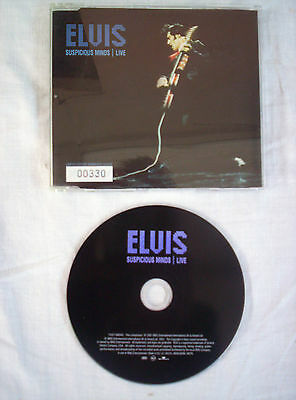 Elvis Presley, Suspicious Minds,Live, 2001 Limited Edition,Uk Issue,Ex Condition