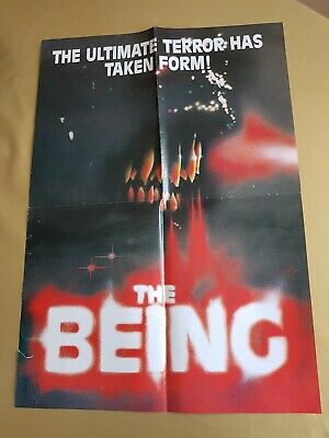 """Rare 1980's """"The Being""""  Horror B-Movie Video Shop Promo Flyer"""