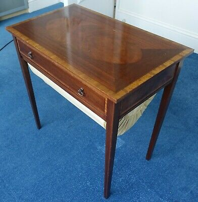 Edwardian Inlaid Mahogany Sewing Table