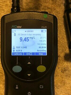 Hach HQ40D Meter.  Includes DO probe, Meter, Meter Case, Charger and Field Case