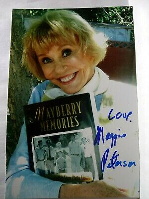 MAGGIE PETERSON As CHARLENE Hand Signed Autograph 4X6 Photo - ANDY GRIFFITH SHOW