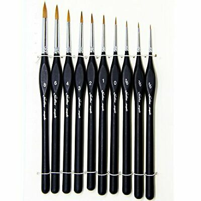Best Professional Detail Paint Brush, Value Set of 10, Miniature (10pcs)