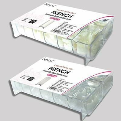 BE.YOU. beYou 2PACK Natutal/Clear French 500 Artificial Fake Nail Tips 10Sizes