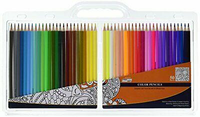 Pro-Art 033307250 50 Piece Color Pencil Set Clam Pack, Assorted
