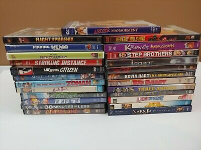 25 DVD LOT in cases Step Brothers, Zombieland, Finding Nemo, and more...