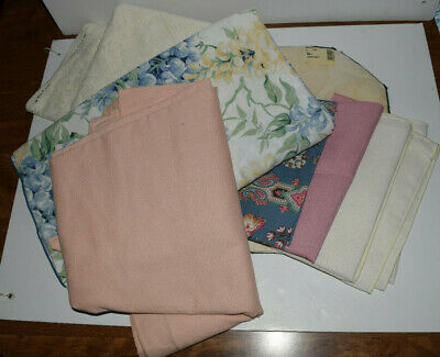 Mixed Lot misc LINENS vintage Napkins, table cloths, place mat tapestry