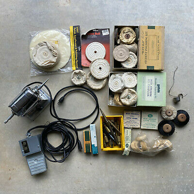 Vintage Emesco dental drill motor 100N w/ accessories / tested / working