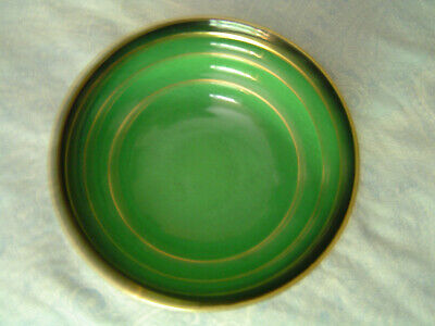 "CarltonWare ""Vert Royale"" Art Deco Green & Gold Bowl Ca. 1930"