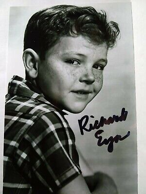 RICHARD EYER Hand Signed 4X6 Photo -THE 7TH VOYAGE OF SINBAD & INVISIBLE BOY