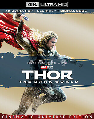Thor The Dark World 4K + Bluray (No Digital) With Slip Cover Brand New Untoched