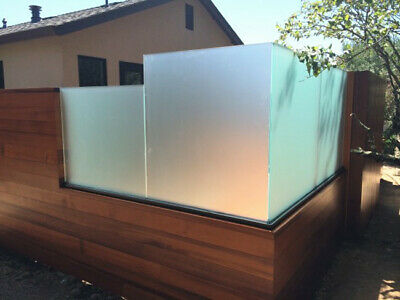 10mm Toughened Frosted Glass | Balustrade - Balcony - Obscure  Decking - Privacy