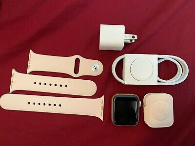 *New* UNLOCKED Apple Watch Series 5 GPS+LTE 40mm Rose Gold Case Pink Sports Band