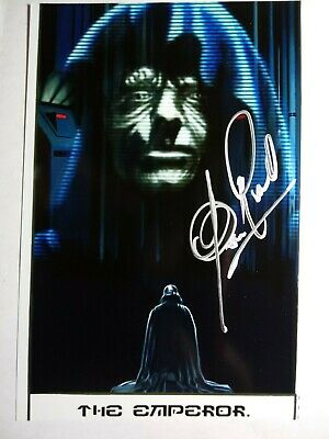 CLIVE REVILL as THE EMPEROR Hand Signed 4X6 Photo STAR WARS -EMPIRE STRIKES BACK