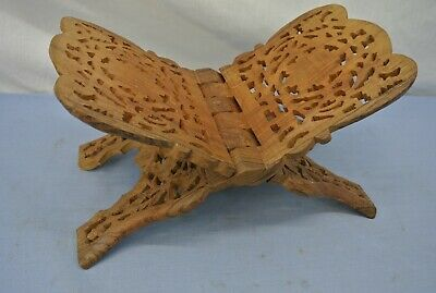Beautiful Wooden Carved Book Holder Folding Stand