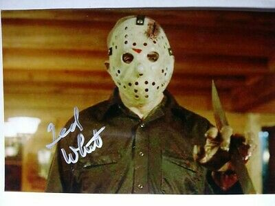 TED WHITE As JASON Authentic Hand Signed Autograph 4X6 Photo - FRIDAY THE 13TH