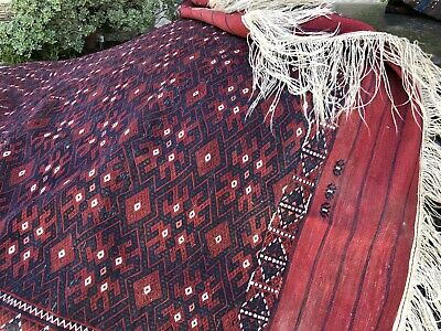 Auth:  Antique Tekke Turkmen Bukhara Soumac  Collectible Wool Beauty Red 6x10 NR
