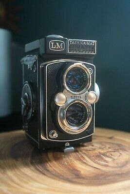 Yashica Mat LM Camera Copal-MXV with case (Film TESTED!)