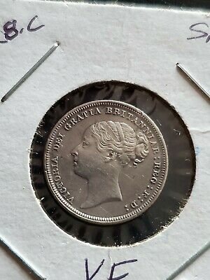 1885 Silver Great Britain Six Pence