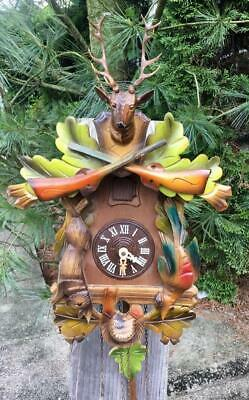 German Black Forest Hunters Cuckoo Clock Running Project Great Colors