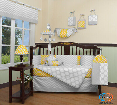 13PCS Yellow Baby Nursery Crib Bedding Sets  Holiday Special