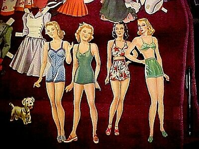 Vintage Paper Dolls and Clothing/Accessories