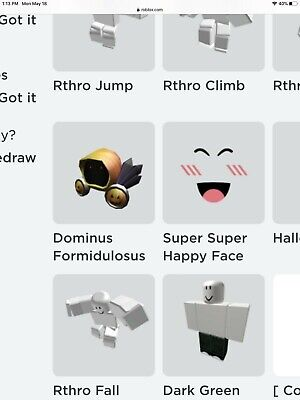 🔥 Rare Roblox Limited Dominus Formidulosus Clean Limited 40000 Robux Value! 🔥