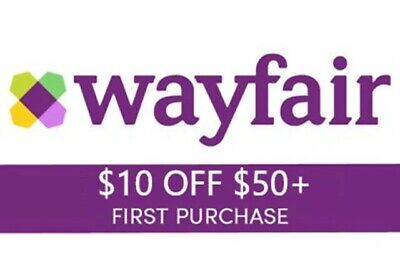 FAST Delivery! WAYFAIR—$10 OFF $50+ First Order, New Account on wayfair.com