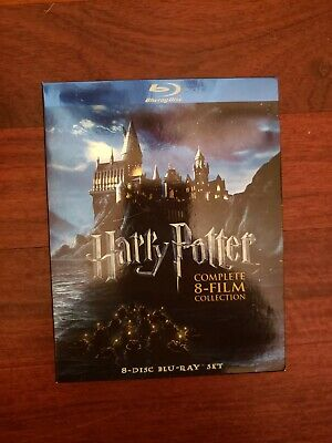 Harry Potter: Complete 8-Film Collection (Blu-ray Disc, 2011, 8-Disc Set) USED