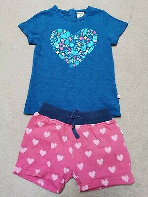 Frugi Girls Top And Shorts 3-4 Years