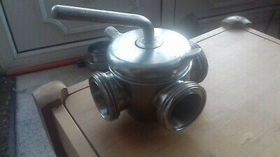 2 inch stainless 3 way hygeinic plug cock valve food industry dairy brewery etc