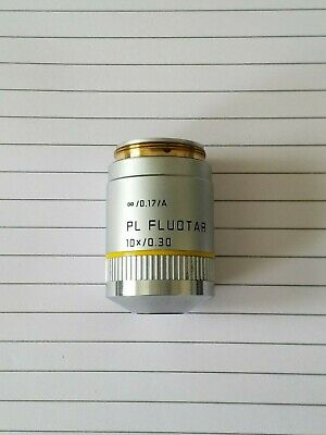 Leica PL FLUOTAR 10X/0.30 ∞/0.17/A Microscope Objective Part Number 506000