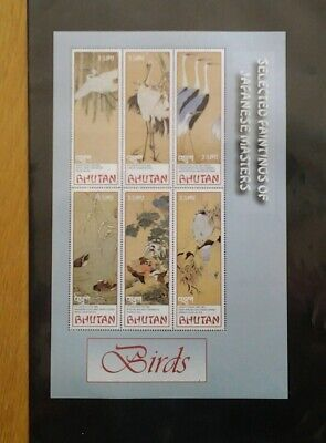 Thematic stamps, Birds on Bhutan stamps.