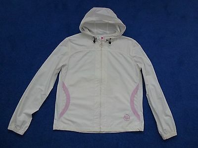 Roxy Quiksilver ladies hooded jacket cream with pink detail size 2