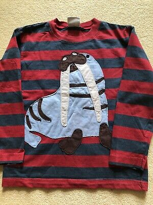 Mini Boden Boys Long Sleeve T Shirt 5-6 Yrs