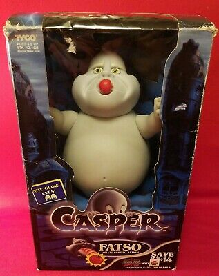 """Vintage 1994 Tyco Casper The Friendly Ghost Fatso Tomato Burping Action! 9"""""""