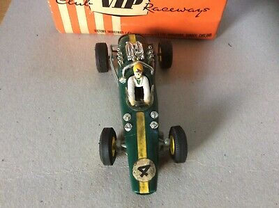 VIP Raceways Lotus Indianapolis R67 Green Slot Car 1960s - Not Tested - Boxed