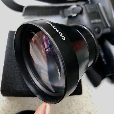 OLYMPUS A-200 IS/L H.Q. CONVERTER LENS, case and instructions