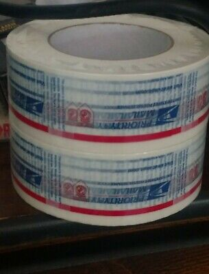 2 Unused RollS Vintage USPS PRIORITY Mail packaging Packing Shipping Tape