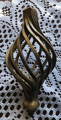 Vintage Twisted Heavy Metal Finial