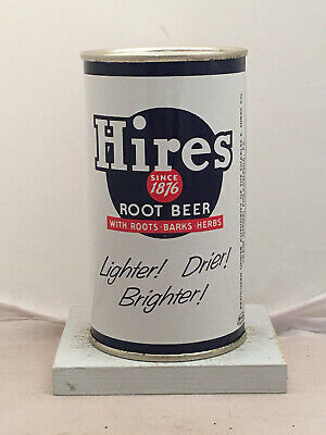 RARE clean Hires Root Beer Soda Can - white can from the 1950's