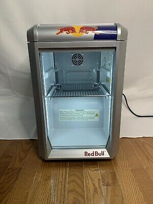 Redbull Energy Mini Refrigerator/baby cooler w/ LED lights works perfect!