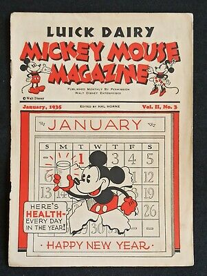 Mickey Mouse Magazine Vol.2 #3 Giveaway Promo Luick Dairy Milwaukee Jan. 1935