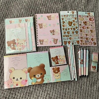 Korilakkuma Chairoikoguma Ice Cream Stationery Set Memo Pad Stickers San-X Japan